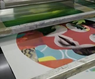 production process still image of a print by Paul Insect, 2021
