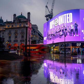BT Hope United Leicester Square billboard