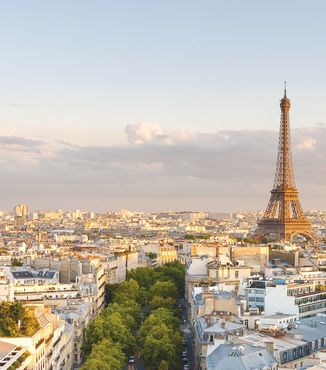 cityscape of paris with eiffel tower