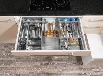 Besteckeinsatz für Reinigung im Geschirrspüler geeignet
