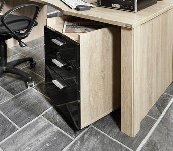 Schreibtischlösung mit Rollcontainer