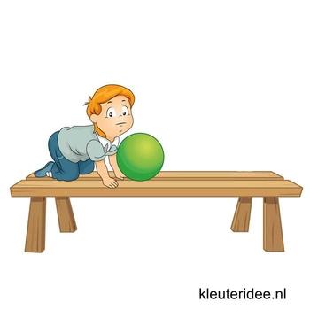 Gymles voor kleuters, les met banken en ballen 1, kleuteridee.nl