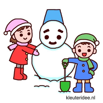 Gymles voor kleuters thema winter 2, kleuteridee.nl
