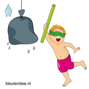 Waterspelletjes voor kleuters, kleuteridee , spel 9, waterpinata