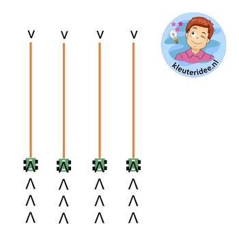 Gymles voor kleuters met rollerboards 3b, kleuteridee