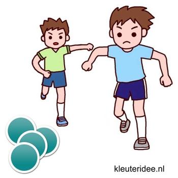 Gymles met bierviltjes voor kleuters 1, kleuteridee.nl