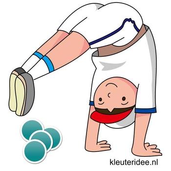 Gymles met bierviltjes voor kleuters 3, kleuteridee.nl
