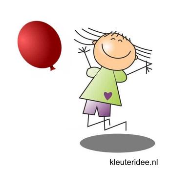 Gymles met ballonnen voor kleuters 1, kleuteridee.nl
