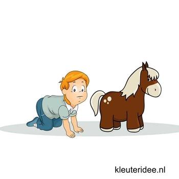 Gymles voor kleuters, themales paarden 1, kleuteridee