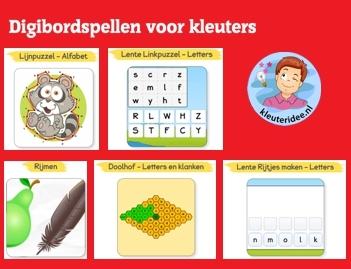 Digibordspellen voor kleuters taal, kleuteridee, Kindergarten game for IBW or computer