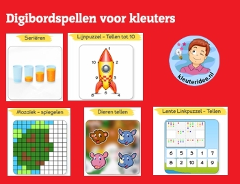 Digibordspellen voor kleuters, kleuteridee, Kindergarten game for IBW or computer