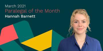 Hannah Barnett Paralegal of the Month