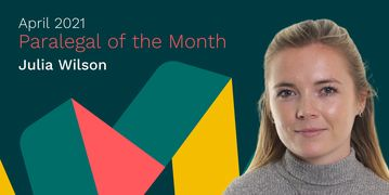Julia Wilson, the Flex Legal Paralegal of the Month