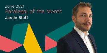 Jamie Bluff Paralegal of the Month