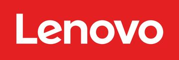 The Lenovo logo, in white text on a red background