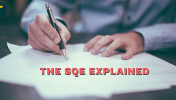 Professional hands write an SQE blog header that leaps from the page