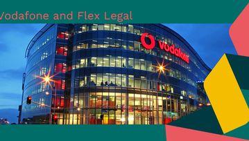 Blog banner - Vodafone Head Office and Flex branding