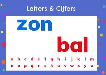 Letters en cijfers, kleuteridee