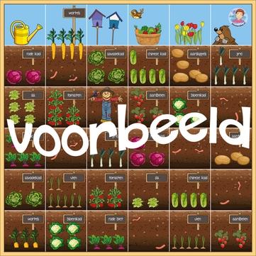 BeeBot mat tuin, lente, moestuin, kleuteridee