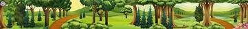 bosachtergrond, kleuteridee