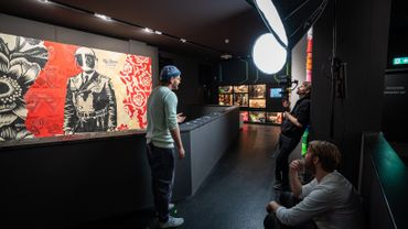 Hinter den Kulissen beim Urban Nation Museum Dreh