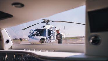 Videoproduktion im Hubschrauber