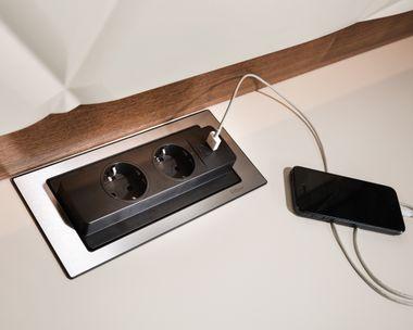 USB-Drehstecker.