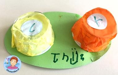 lensdoosje knutselen met kleuters, kleuteridee, thema het oog, kindegarten craft, eye theme.