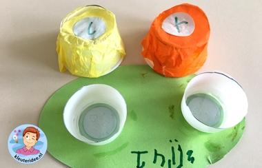 lensdoosje knutselen met kleuters, kleuteridee, thema het oog, kindegarten craft, eye theme 2.