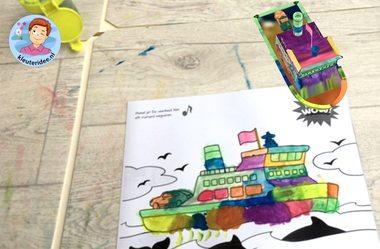3d kleurplaten bij thema de haven, Magic Dadoo, kleuteridee 2