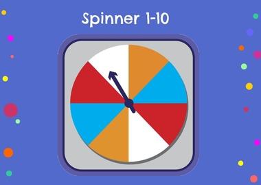 Spinner 1-10, kleuteridee