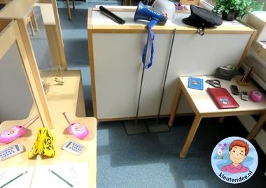 Rollenspel met kleuters, thema politie, politiebureau 2, kleuteridee.nl, Kindergarten , Police theme