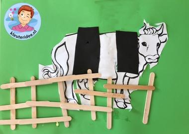 hek voor koe, kleuteridee.nl, thema de koe.