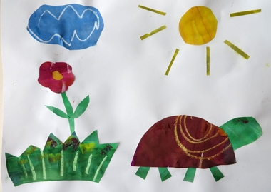 Eric Carle kunst, thema kunst voor kleuters, kleuteridee.nl , Art theme preschool.2