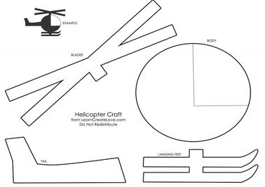Politiehelikopter maken met kleuters download, kleuteridee.nl, met gratis download, thema politie