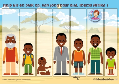 Van jong naar oud, kleuteridee, Kindergarten math boy young, old older, free printable.