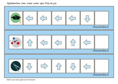 Raar, maar waar spel, 5 pijlen2, volg de pijl, kleuteridee.nl, free printable.