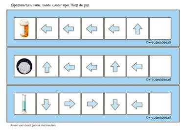 Raar, maar waar spel, 5 pijlen1, volg de pijl, kleuteridee.nl, free printable.