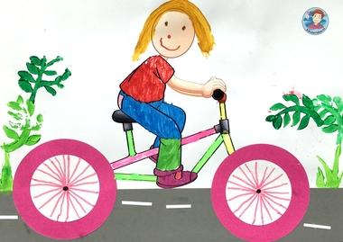 Knutselen met kleuters thema de fiets, met gratis download, kleuteridee 4