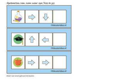 Raar, maar waar spel, 2 pijlen 2, volg de pijl, kleuteridee.nl, free printable.