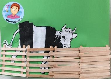 hek voor koe, kleuteridee.nl, thema de koe 2.