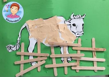 hek voor koe, kleuteridee.nl, thema de koe 3,