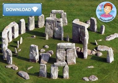 Stonehenge bouwen met blokken door kleuters, kleuteridee 3