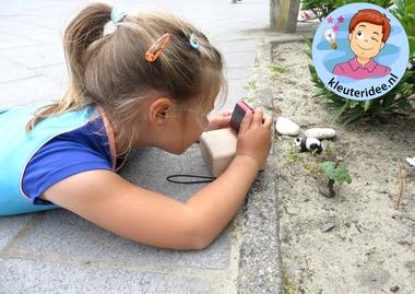 Kleuters en wildfotografie 4, kleuteridee.nl, thema fotograaf, Kindergarten Photgrapher theme
