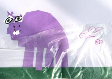 Nijlpaard in het water 4, thema dierentuin, kleuteridee.nl , Preschool hippo craft.