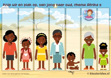 Van jong naar oud, kleuteridee, Kindergarten math girl young, old older, free printable.
