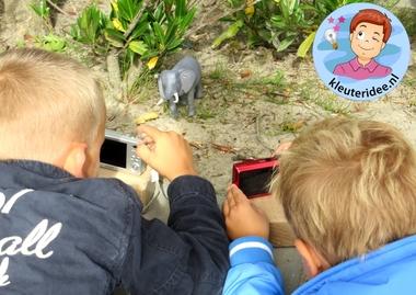Kleuters en wildfotografie 3, kleuteridee.nl, thema fotograaf, Kindergarten Photgrapher theme