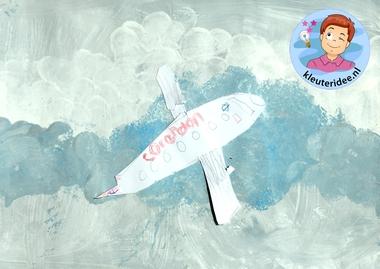 collage vliegtuig, kleuteridee, Kindergarten plane craft 4