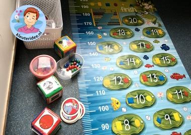 Speelkleed kikkermat voor rekenhoek, kleuteridee 11.