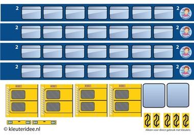 trein van dozen knutselen, kleuteridee.nl, met gratis downloads, free printables, kindergarten railway theme 10.